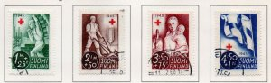 Finland Sc B65-8 945 Red Cross charity stamp set used