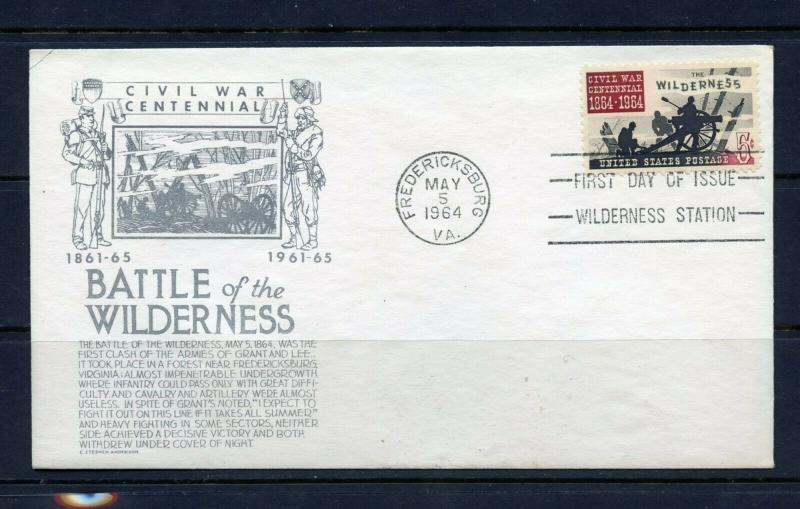 UNITED STATES 1965 APPOMATTOX CACHET CRAFT  FIRST DAY COVER