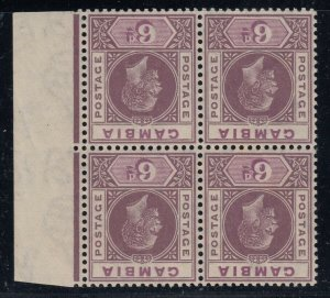 Gambia, SG 114x, MNH block of four Watermark Reversed variety