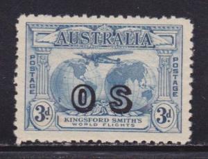 Australia Scott # O2 VF-OG lightly hinged nice color scv $ 450 ! see pic !