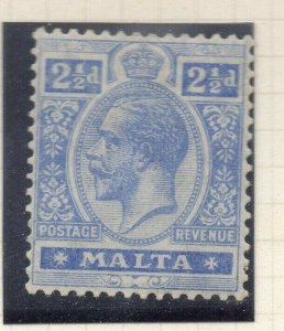Malta 1921-22 Early Issue Fine Mint Hinged 2.5d. 321526