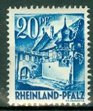 Germany - French Occupation - Rhine Palatinate - Scott 6N7 (SP)