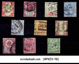 GREAT BRITAIN - 1901-1910 SELECTED STAMPS OF KEDVII - 9V - USED