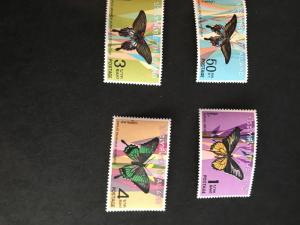 Thailand Scott #509-512 Mint VF-NH 2015 Cat. US$68. 1968 Butterflies Set of Four
