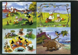 GAMBIA 1991 DISNEY JUST SO STORIES SET OF 4 S/S MNH