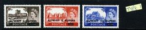 KUWAIT QE II 1955 Overprinted KUWAIT Type I Castles Set SG 107 to SG 109 MINT