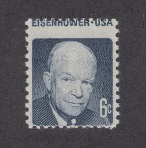 US Sc 1393 MNH. 1970-74 6c Dwight D. Eisenhower, horiz MISPERF