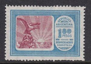 ARGENTINA ^^^^^^  sc# C18   mint  LH  AIRPOST  ( one PESO 80 )$$@ ta1406arg