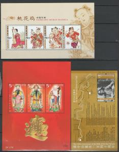 China mint mini sheets and stamp collection
