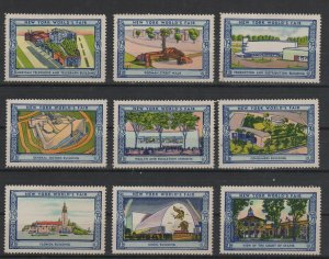 USA - 1939 New York World's Fair Lot  of 9 MH Stamps Assortment 5