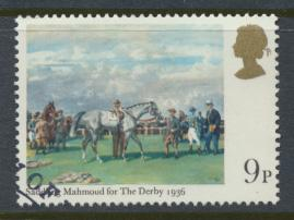 Great Britain  SG 1087 SC# 863 Used / FU with First Day Cancel - Horse Racing...
