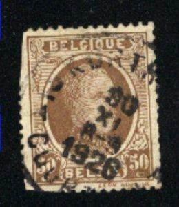 Belgium 157  used some perfs cut 1925 PD