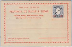 PORTUGAL colonies : MACAU & TIMOR -  POSTAL STATIONERY CARD: Higgings & Gage # 9