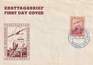 1951, Nurnberg Glider Day, FDC (41465)