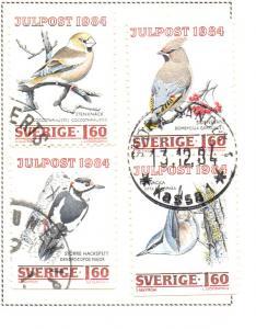 Sweden Sc  1517-20 1984 Christmas stamp set used