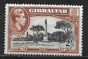 COLLECTION LOT OF 115a GIBRALTAR 1942 MINT VERY LIGHT HINGED CV = $40 2 SCAN