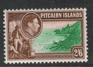 PITCAIRN ISLANDS 1940 - 51 2/- 6d KING GEORGE VI & FLETCHER CHRISTIAN