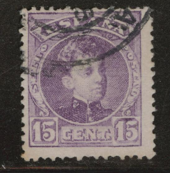 SPAIN Scott 277 Used King Alfonso XIII 1901-1905