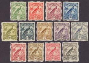 NEW GUINEA 18 - 30 SET OF 13  MINT LIGHTLY HINGED OG *  NO FAULTS  VERY FINE!