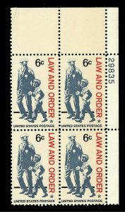 US  Sc# 1343-46 - 6 cent Law and Order Mint NH Plate Block of 4