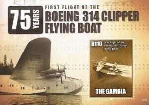 Gambia - 2013 Clipper Flying Boat - Stamp Souvenir Sheet - Scott #3492
