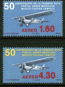 MEXICO C561-C562 50th Anniv 1st Air Mail Route. MINT, NH. VF.