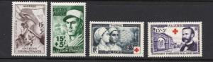 Algeria - Sc# B72 - B75 MNH (B72 MLH)  /  Lot 0418274