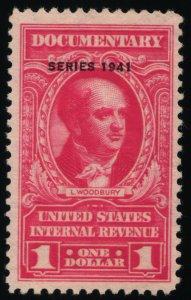 Scott #R323 VF $1 Carmine - Revenue Stamps - MNH - 1941