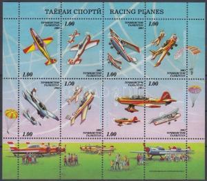 Turkmenistan stamp Airplanes minisheet MNH 2003 Mi 294-301 A WS155934