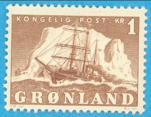 GREENLAND 36 MINT HINGED OG * NO FAULTS EXTRA FINE !