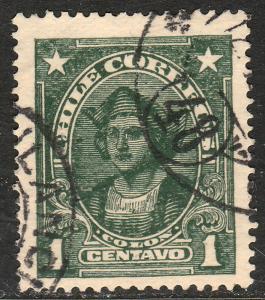 Chile 143, 1c Columbus. Used.F (562)