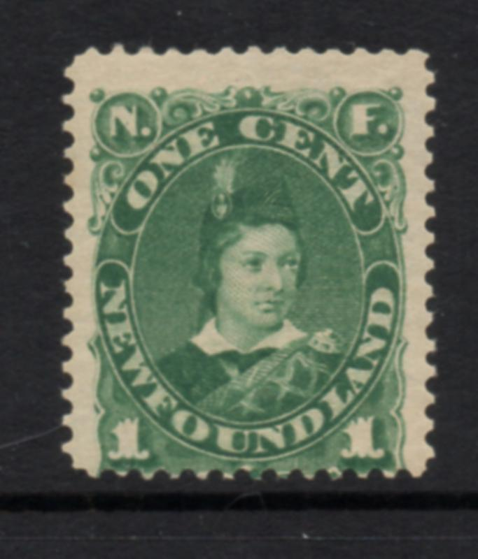 Newfoundland Sc 45 1897 1c green Prince of Wales stamp mint