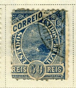BRAZIL; 1894 early classic issue fine used 50r. value