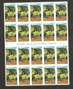 3089 Iowa Statehood Booklet Pane Of 20 Mint/nh Selling At Face