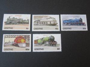 Lesotho 1984 Sc 453-7 Train set MNH
