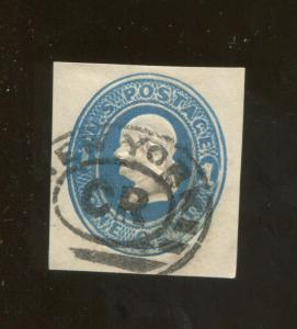 1870 United States of America Benjamin Franklin 1c Postage Stamp #U74 CV $30