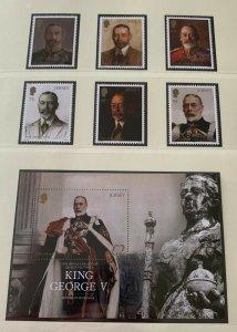 JE29) Jersey 2016 King George V set of 6 & M/S MUH