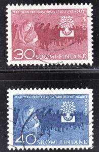 Finland Scott 368-69  complete set  F to VF used.