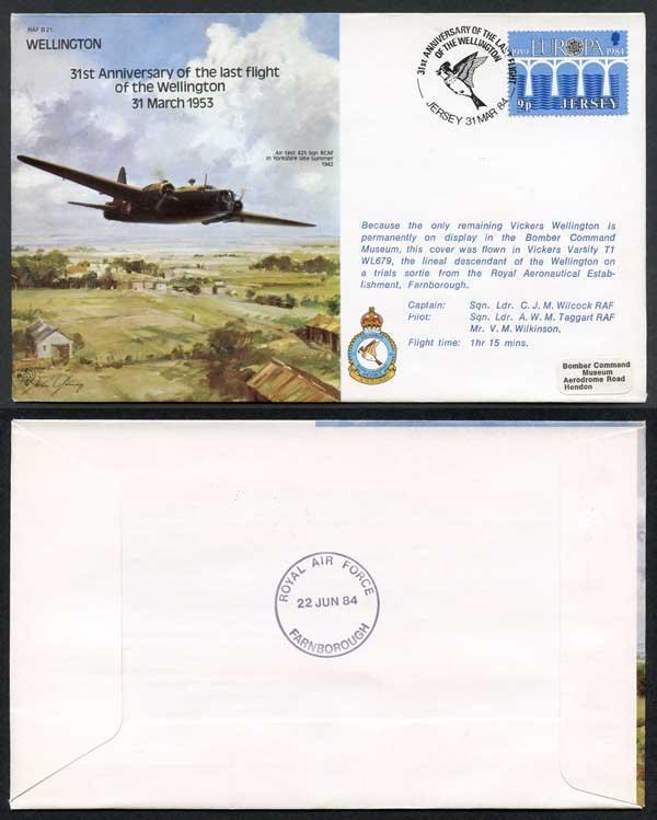 B21a 31st Ann Last Flight of the Wellington Standard Cover