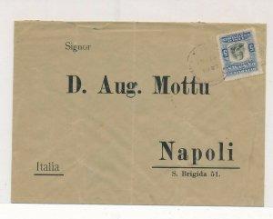 D174412 Panama Cover 1907 Napoli Italy