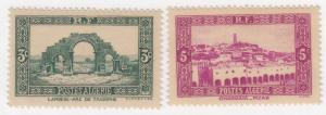 Algeria, Sc # 81-82, MH, 1936, View of Ghardaia