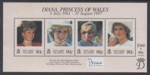 Pitcairn Islands 487 Princess Diana Souvenir Sheet MNH VF