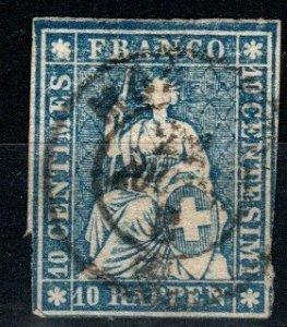 Switzerland #37 F-VF Used CV $32.50  (X9748)