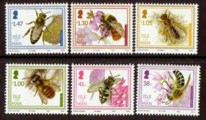 Isle of Man --2012-   Bees   MNH  Set   # 1513-1518