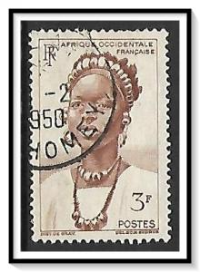French West Africa #56 Peul Woman Used