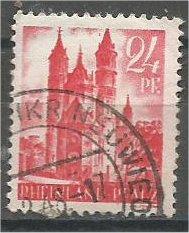 RHINE PALATINATE, 1947, used 24pf, Cathedral Scott 6N8