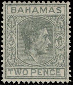BAHAMAS GVI SG152a, 2d pale slate, LH MINT. Cat £950. SHORT T