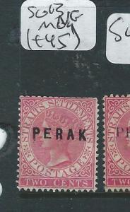 MALAYA PERAK (PP2607B) QV 2C   SG 17C   MOG