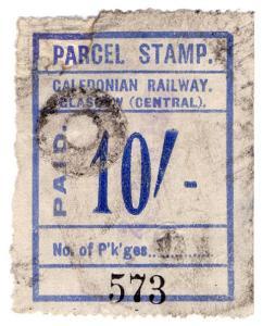 (I.B) Caledonian Railway : Parcel Stamp 10/- (Glasgow)