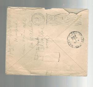 1908 Jerusalem Palestine Austria Post office Cover to USA Assad Jamal Travel